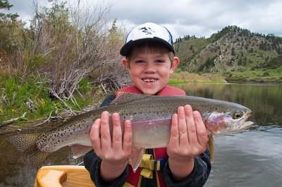 Thomas fly fishing in Montana
