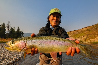 Enjoying guided fly fishing trips