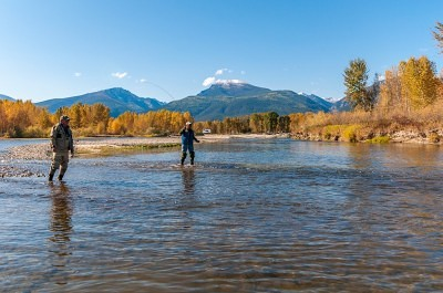 Wading for guided fly fishing trips
