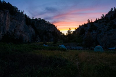 overnight camp on the smith river