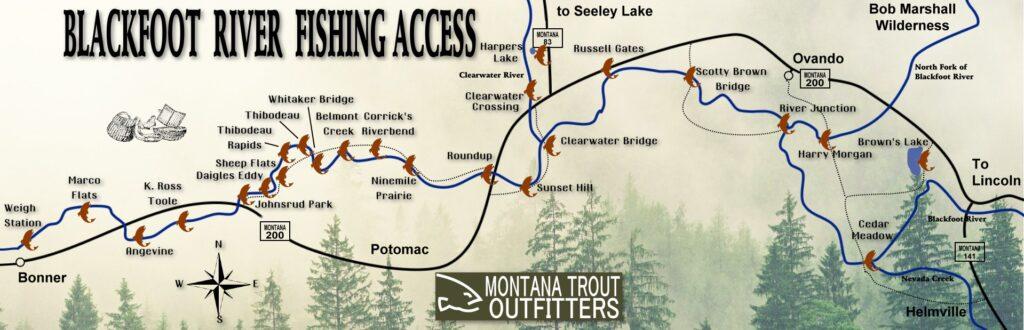 Blackfoot River Fishing Guide Map