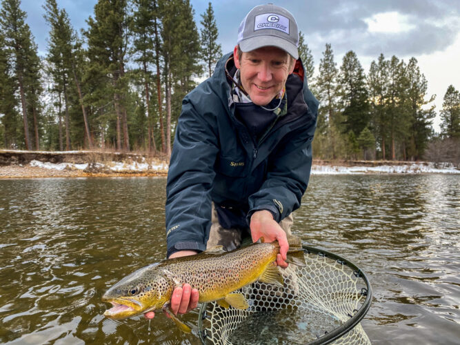 Stunning early season brown trout