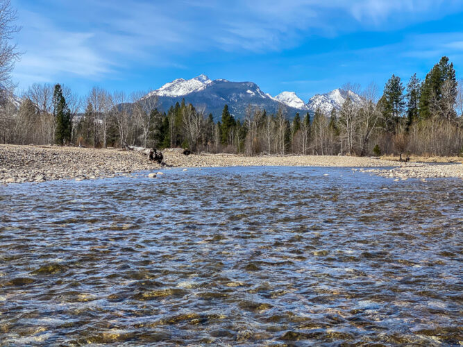 Gorgeous day for Spring Trout fishing on the Bitterroot