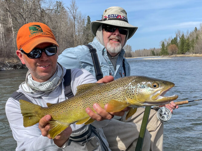 Jeff tagged this big brown trout on a Skwala dry fly