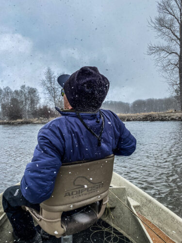 Spring trout fishing - Then we had to deal with some serious cold and snow