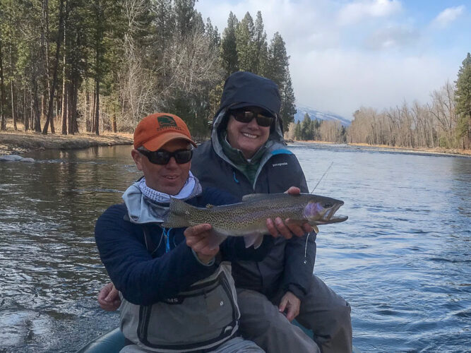 Still cold, but Nancy finished up with a perfect cuttbow