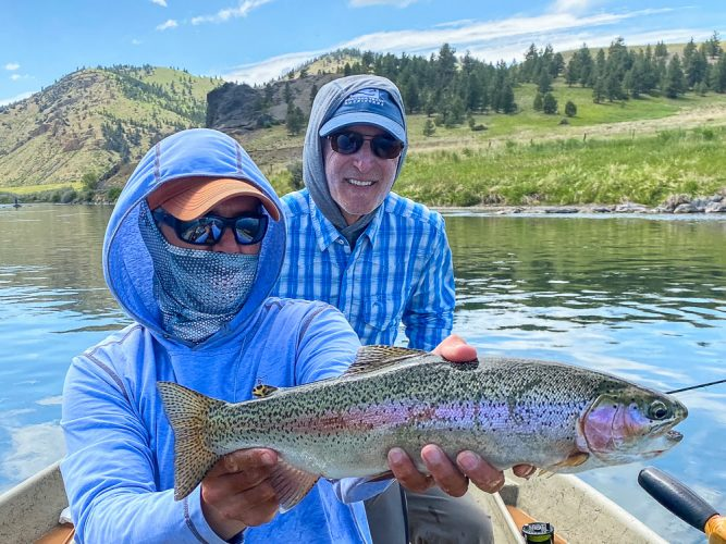 Jim with a beautiful rainbow trout - Best Montana Fishing Guide