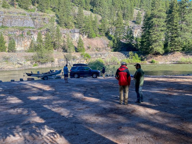 Ready to go in the morning on the Blackfoot River - Best Montana Fishing Guide