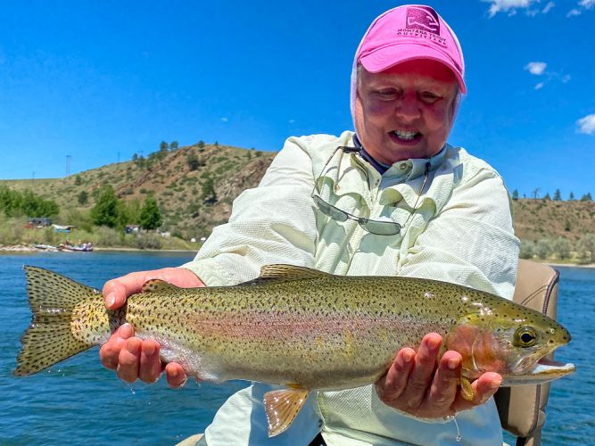 Dianne found a slab on the next pass - Missouri River Rainbow Trout