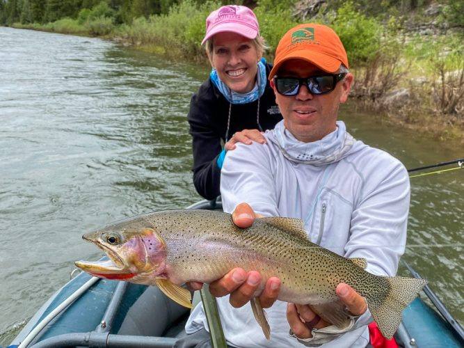 Some late day slabs for Bill and Joan - Trout Fishing Montana