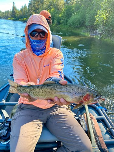 Early morning dry fly fish for Dianne - Missoula Trout Fishing