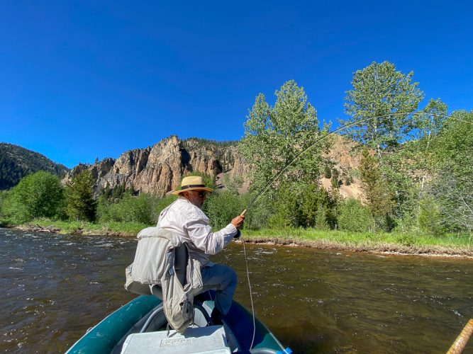 Tight lines and a gorgeous view - Trout Fishing Montana