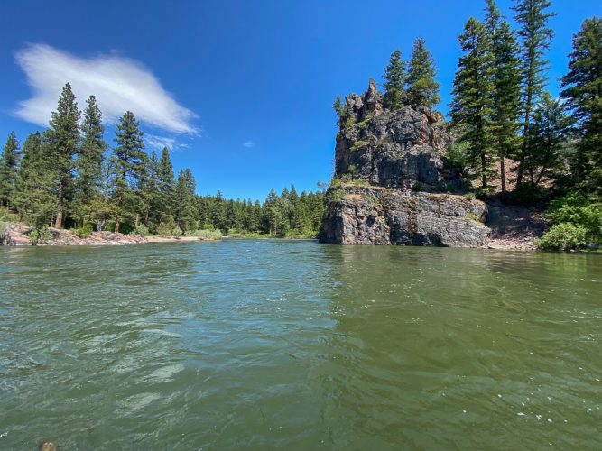 Red rocks on the Blackfoot River - Missoula Trout Fishing